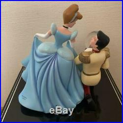 Disney Store Cinderella Prince Charming Glass Shoes Snow Globe Music Box New