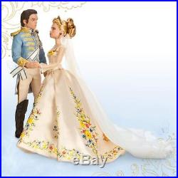 Disney Store Cinderella & Prince Charming Wedding Doll Set Live Action Film 2015