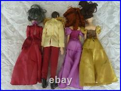 Disney Store Cinderella, Ugly Sisters And Prince Charming Dolls Rare STEP MOTHER