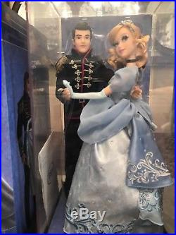 Disney Store Cinderella and Prince Charming Designer Fairytale LE Doll