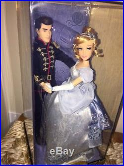 Disney Store Cinderella and Prince Charming Fairytale Designer Doll NEW Low #910