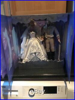 Disney Store Cinderella and Prince Charming Limited Edition Doll Set RARE