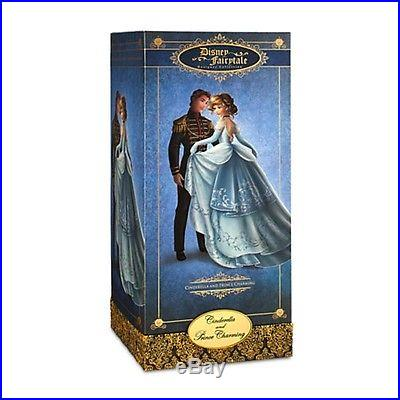 Disney Store Limited Edition 6,000 17 Cinderella And Prince Charming 2 Doll Set