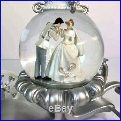 Disney Store Limited Snow Globe Cinderella & Prince Charming in Carriage Wedding