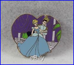 Disney Store Shopping LE 250 Pin Cinderella Prince Charming Valentines Day 2008