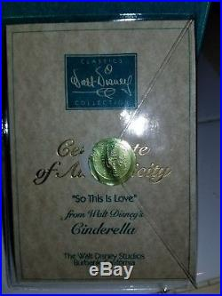 Disney WDCC CINDERELLA's SO THIS IS LOVE Cinderella Prince Charming COA