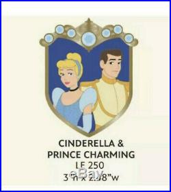 Disney WDI Cinderella And Prince Charming Couples Crest Pin LE 250