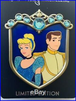 Disney WDI Cinderella and Prince Charming Couples Crest LE250 Pin