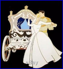 Disney Wedding Cinderella and Prince Charming Carriage Coach jumbo pin LE 100