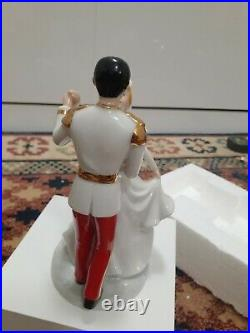Disney cinderella and prince charming dancing figurine, mint condition