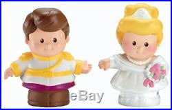 Fisher-Price Little People Disney 2 Pack Cinderella and Prince Charming New