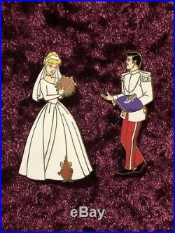 Hard To Find Le 3000 Boxed Set Cinderella Wedding Dress And Prince Charming Pin