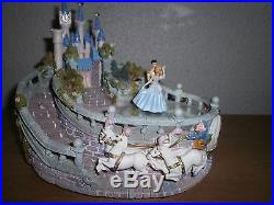Hard to Find Musical Sculpture with Dancing Cinderella and Prince Charming