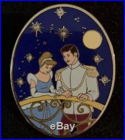 Japan Disney Mall Cinderella and Prince Charming with Stones Pin LE /100 53955