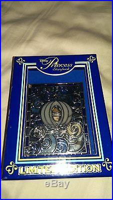 LE Storybook Princess Cinderella Prince Charming Stained Glass JUMBO Pin