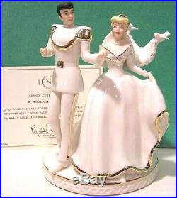 LENOX A MAGICAL MOMENT CINDERELLA Cake Topper NEW in BOX withCOA Prince Charming