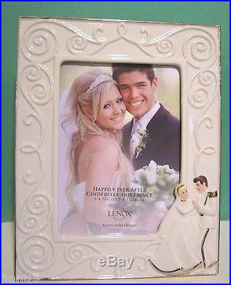 LENOX CINDERELLA 5x7 FRAME with Prince Charming NEW in BOX Happily Ever After