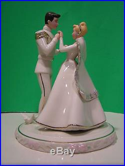 LENOX CINDERELLA'S WEDDING DAY CAKE TOPPER Prince Charming NEW in BOX withCOA