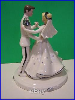 LENOX CINDERELLA and PRINCE CHARMING LOVE WEDDING DAY CAKE TOPPER NEW in BOX coa
