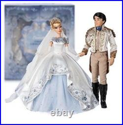 LIMITED EDITION CINDERELLA & PRINCE CHARMING PLATINUM WEDDING SET From JAPAN F/S