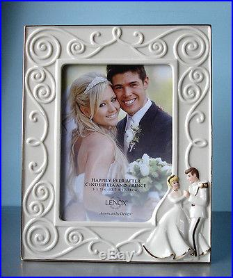 Lenox Disney Cinderella & Prince Charming FRAME 5x7 Happily Ever After New