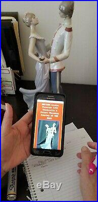 Lladro 5398 Cinderella And Prince Charming At The Ball 13.5 Dated 1985Dancing