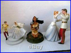Lot 3 WDCC Cinderella Prince Charming Pocahontas Disney Figurines BOX and COA