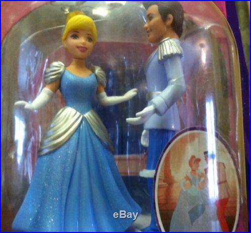 NEW DISNEY CINDERELLA DANCING DUET PRINCE CHARMING CAKE TOPPER TOY PINK BOX