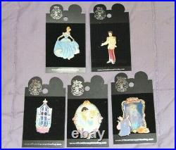 NEW Disney Cinderella Pin Trading Lot Prince Charming Ball Gown Fairy Godmother
