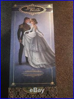 NEW Disney Fairytale Designer Doll Couple CINDERELLA and PRINCE CHARMING LE