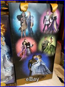 NEW Disney Limited Edition Designer Fairytale Cinderella & Prince Charming Dolls