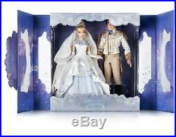 NEW Disney Store Cinderella and Prince Charming Limited Edition Doll Set