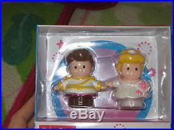 NEW Fisher Price Little People lot pair toy Cinderella & Prince Charming people