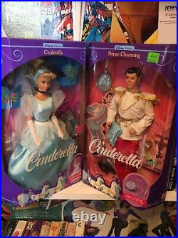 New In Box Disney Classics Cinderella And Prince Charming Barbie