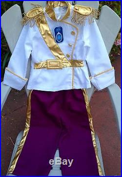 Nwt New Euro Disney Store Uk Prince Charming Cinderella Costume Boys Child M 7 8