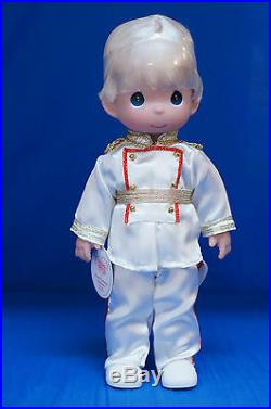 Prince Charming Blonde Christmas Disney Precious Moments Doll Signed 4847