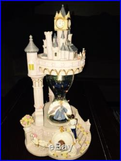RARE DISNEY CINDERELLA PRINCE CHARMING HOURGLASS MUSICAL SNOWGLOBE THIS IS LOVE