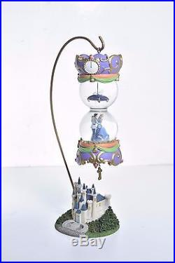 Rare Disney Cinderella Prince Charming Dancing Castle Double Hanging Snow Globe