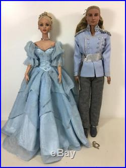 Tonner Dreams Come True Cinderella & Prince Charming Dressed Doll Lot
