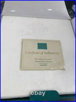 WDCC Disney CINDERELLA SO THIS IS LOVE Prince Charming With COA #1028568