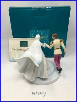 WDCC Disney Cinderella & Prince Charming Fairy Tale Wedding with Box & COA