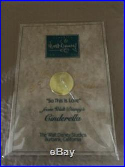 WDCC Disney Classics Cinderella And Prince Charming So This Is Love MINT with COA