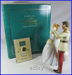 WDCC Disney Classics So This is Love Cinderella & Prince Charming With Box & COA