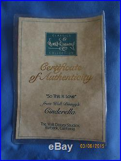 WDCC So This is Love Cinderella and Prince Charming With COA