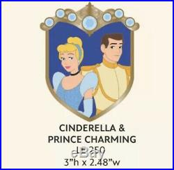 WDI Couples Crest Cinderella And Prince Charming Pin LE 250