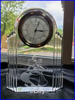 Waterford Crystal DISNEY Cinderella & Prince Charming clock. Made in Germany