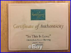 Wdcc Disney Cinderella And Prince Charming So This Is Love Box And Coa Mint