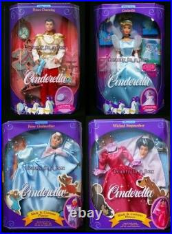 Wicked Stepmother Fairy Godmother Mask Cinderella Doll Prince Charming Lot 4